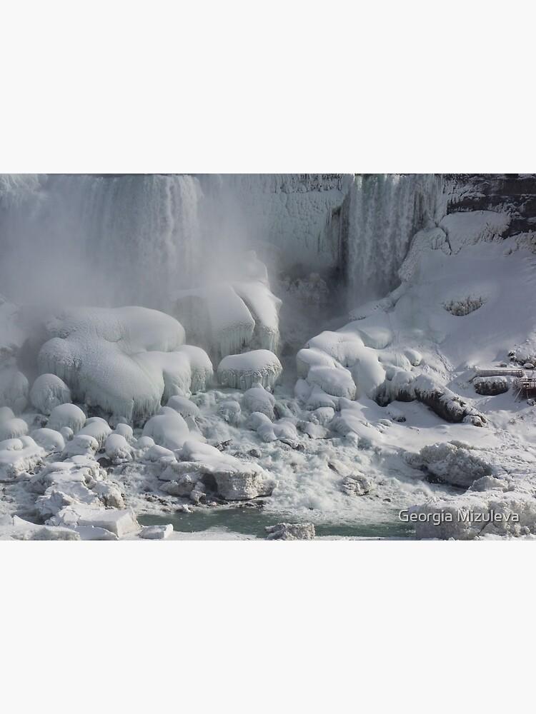 Niagara Falls Ice Buildup - American Falls, New York State, USA by GeorgiaM