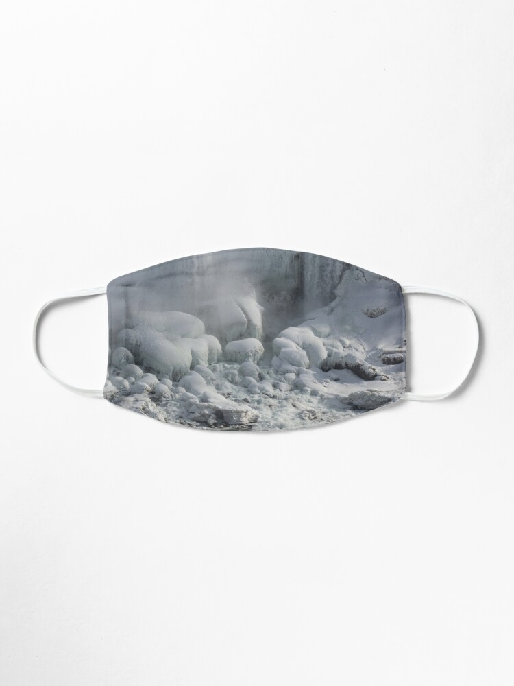 Alternate view of Niagara Falls Ice Buildup - American Falls, New York State, USA Mask