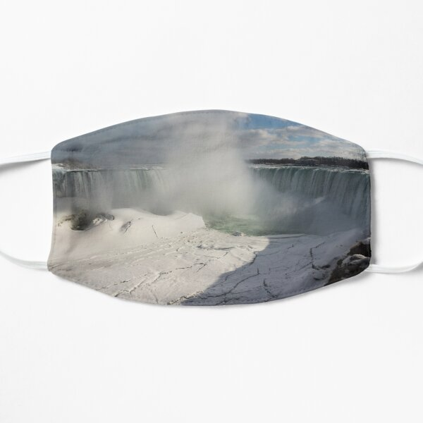 Niagara Falls Ice Buildup Panorama - Canadian Horseshoe Falls, Ontario, Canada Mask