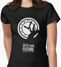 Back to the Future - Doc Brown & the Clock Tower Women's Fitted T-Shirt