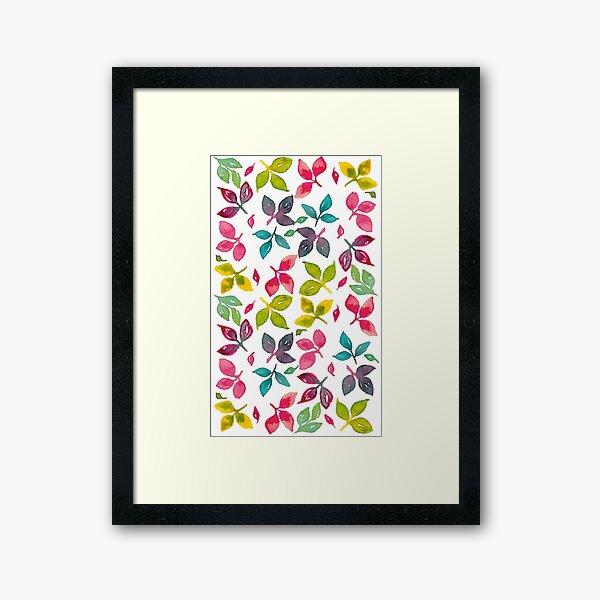 Watercolor Leaves v2 Framed Art Print