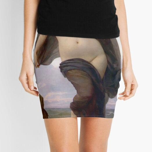 Evening Mood painting by William-Adolphe Bouguereau Mini Skirt