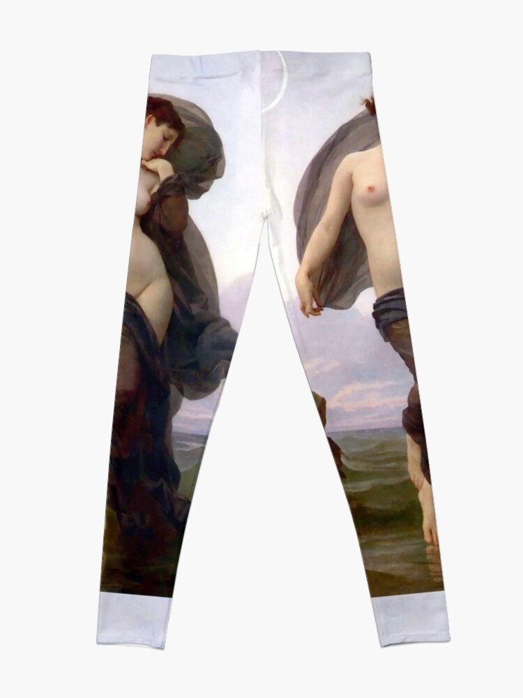 Alternate view of Evening Mood painting by William-Adolphe Bouguereau Leggings