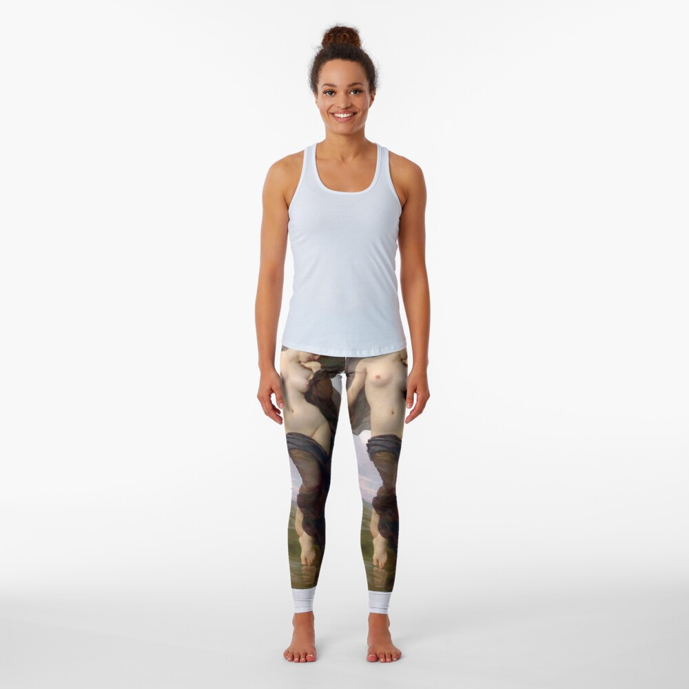 Evening Mood Painting, ur,leggings_womens_front,square