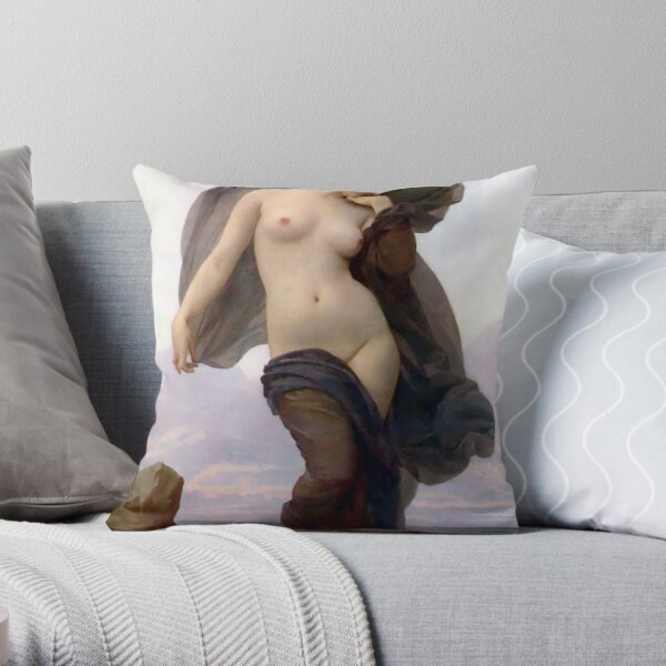 Evening Mood painting by William-Adolphe Bouguereau Throw Pillow