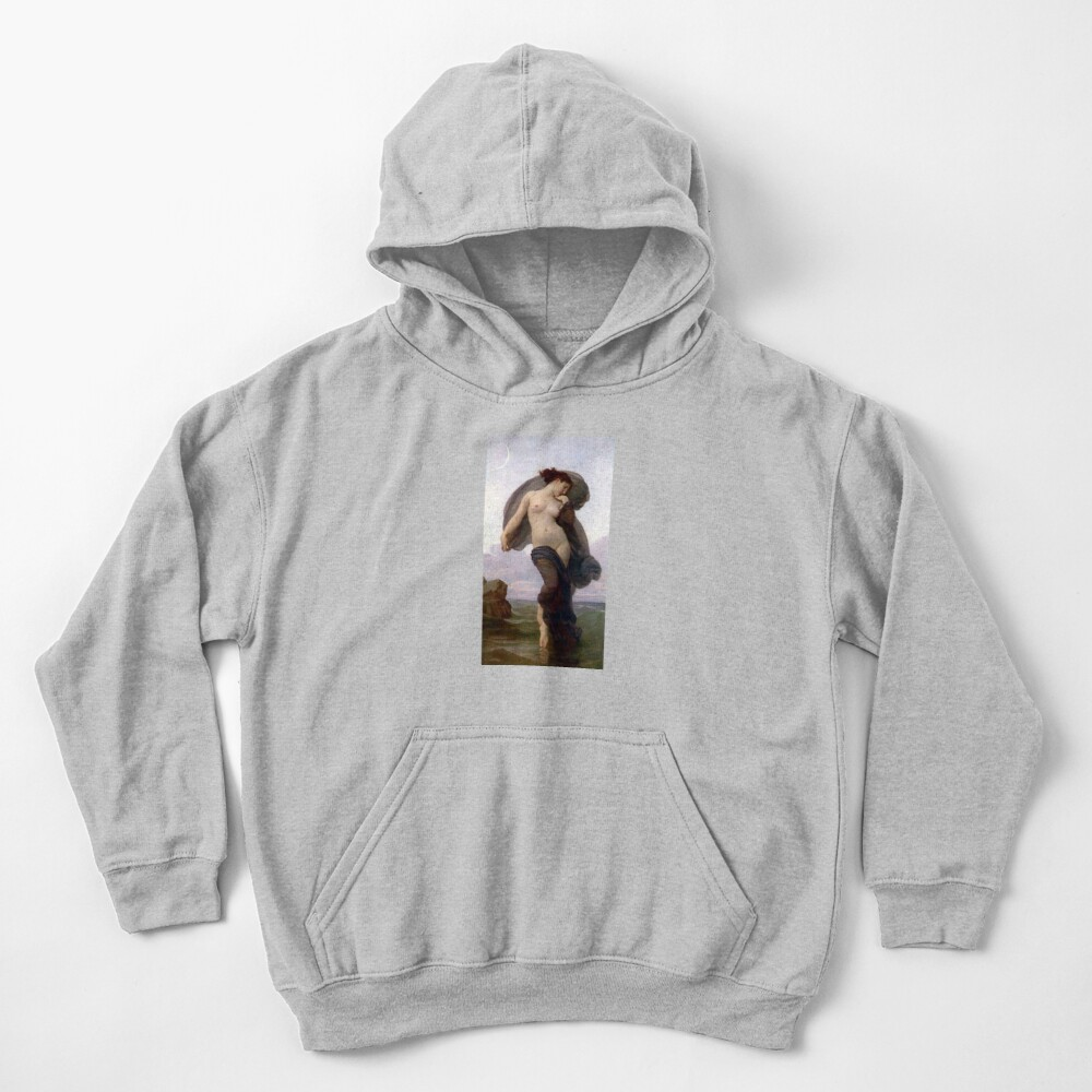 Evening Mood Painting, ssrco,kids_hoodie,youth,heather_grey,flatlay_front,square