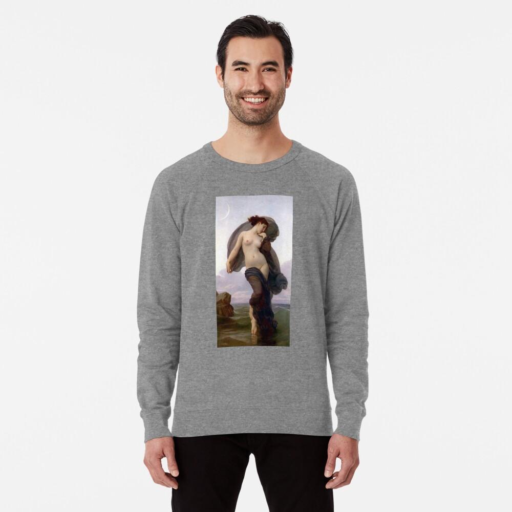 Evening Mood Painting, ssrco,lightweight_sweatshirt,mens,heather_grey_lightweight_raglan_sweatshirt