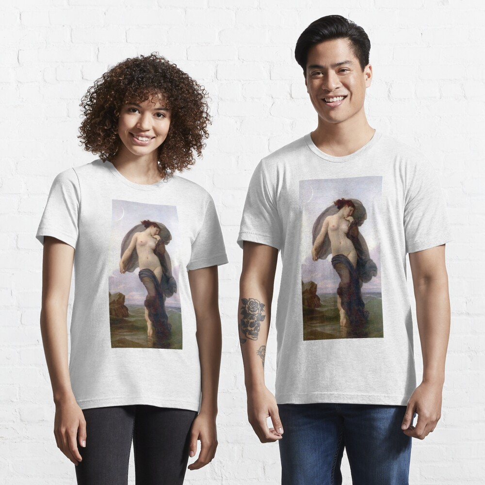Evening Mood Painting, ssrco,slim_fit_t_shirt,two_model