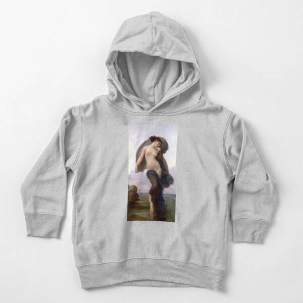 Evening Mood painting by William-Adolphe Bouguereau Toddler Pullover Hoodie