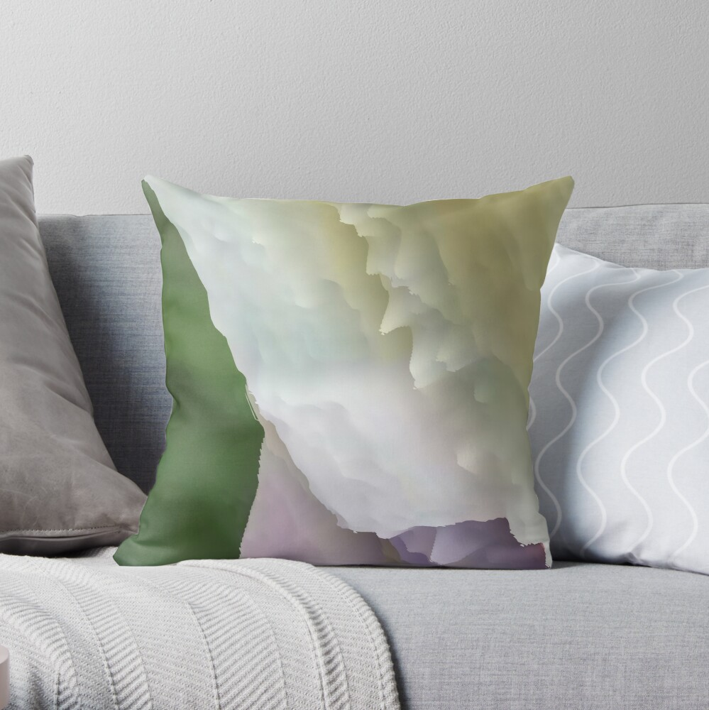 Multicolored unique everlasting pattern. Abstract artwork collection design file 006 Throw Pillow