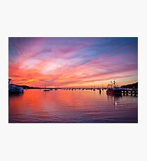 Painted Skies over Port Jefferson Harbor Long Island NY Photographic Print