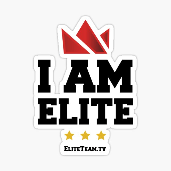 I Am Elite Sticker