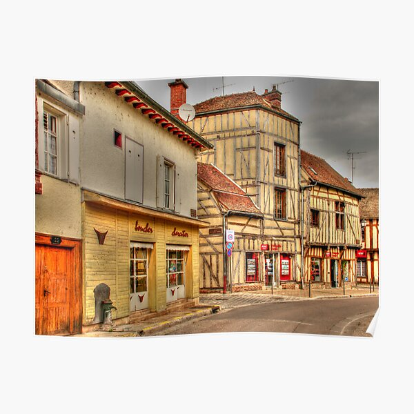 Street in Troyes France Poster