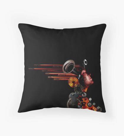 crank-up woman  Throw Pillow