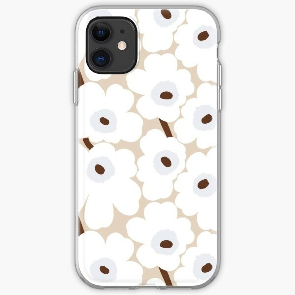 Marimekko White Unikko Floral Print iPhone Soft Case