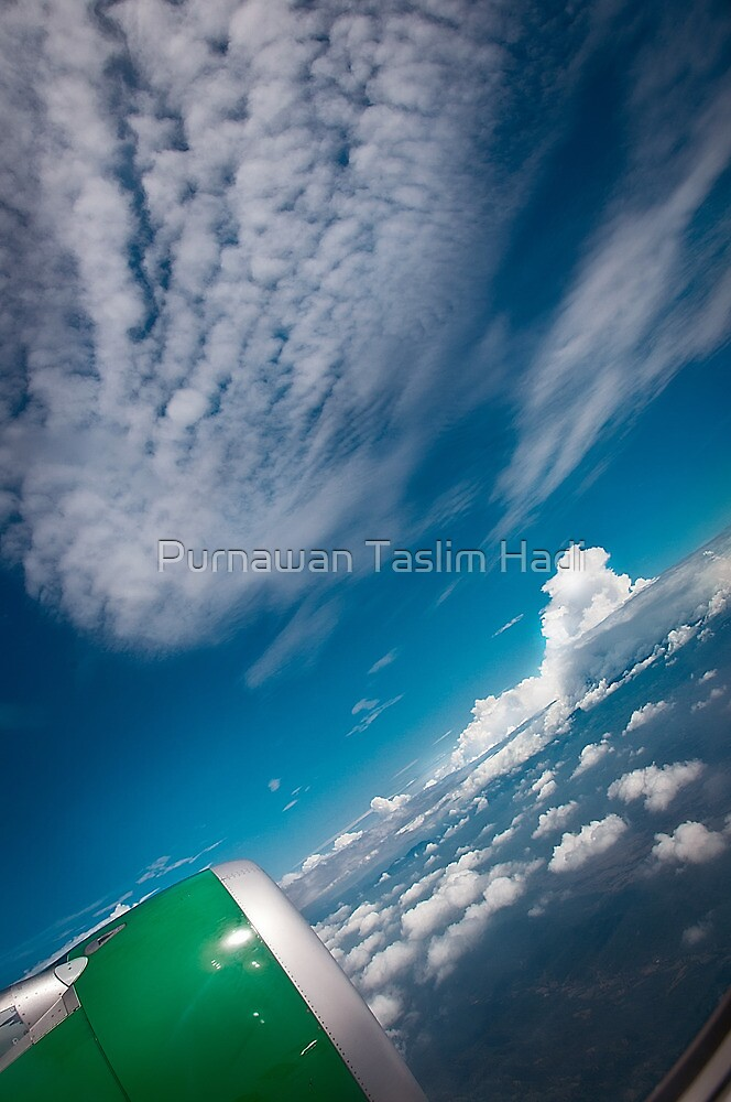 On the plane by Purnawan Taslim Hadi