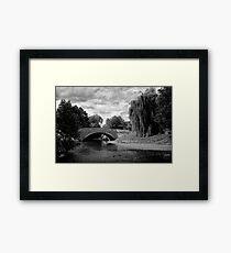 Sinnington Bridge in monochrome Framed Print