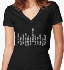 Regeneration 12 Doctors Wordsearch 1 Women's Fitted V-Neck T-Shirt