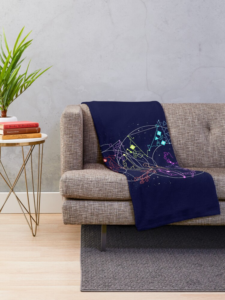 Alternate view of She-Ra Constellations Throw Blanket