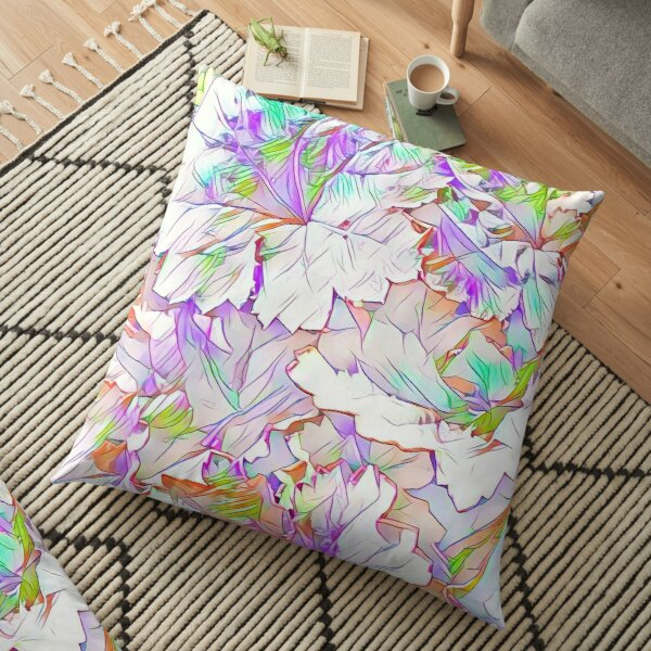 Bright Spring Foliage Floor Pillow