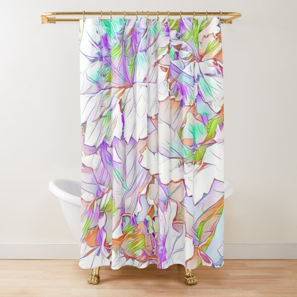 Bright Spring Foliage Shower Curtain
