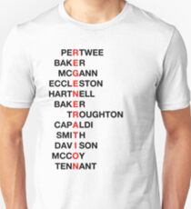 Regeneration 12 Doctors Wordsearch 3 T-Shirt