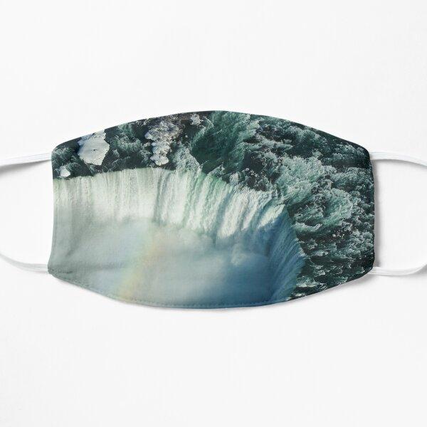 Flying Over Icy Niagara Falls Mask