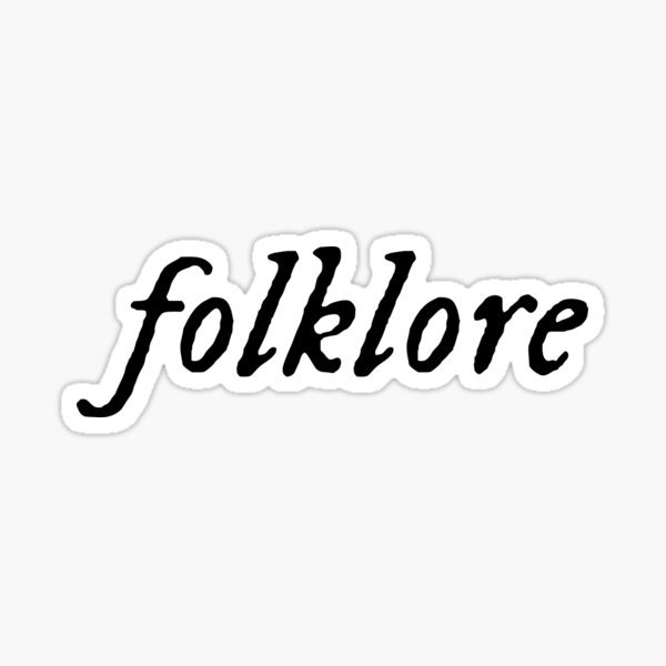 folklore Sticker