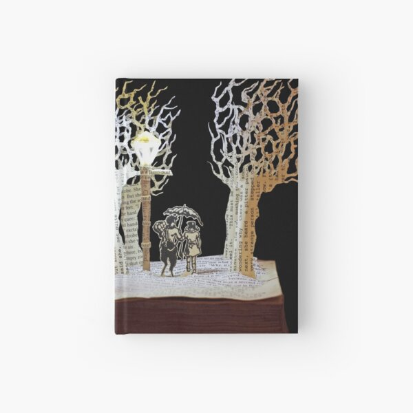 Tumnus and Lucy Narnia book sculpture Hardcover Journal
