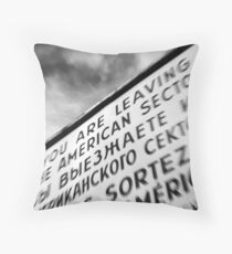 Checkpoint Charlie Throw Pillow