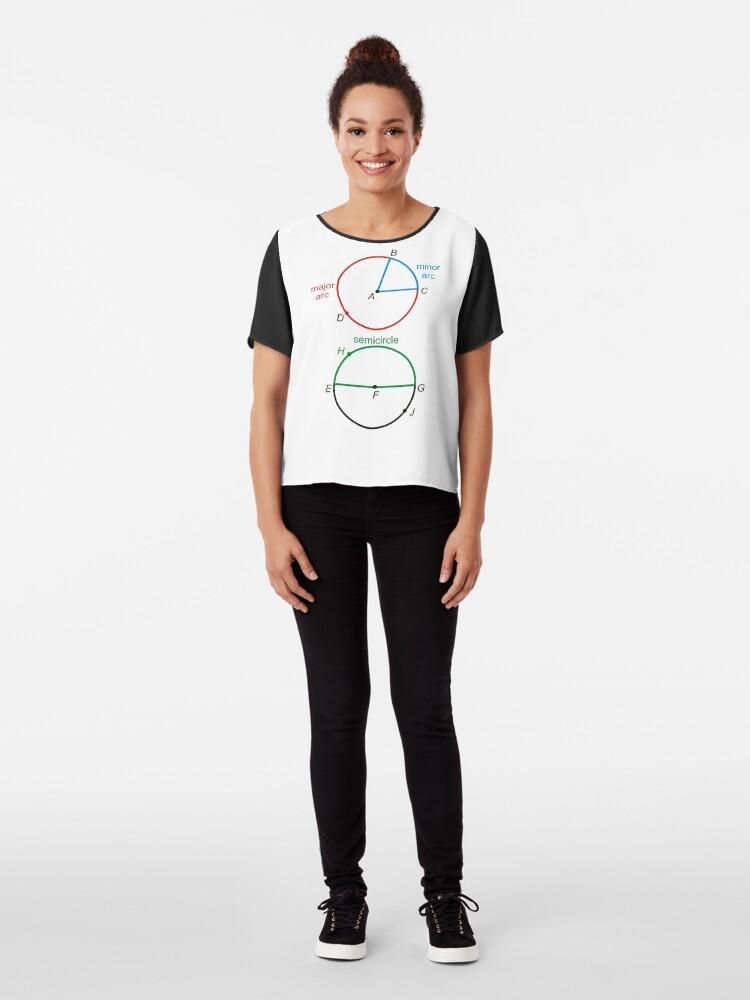 Alternate view of Geometry: Circle, Minor Arc, Major Arc, Semicircle, Diameter, Radius Chiffon Top