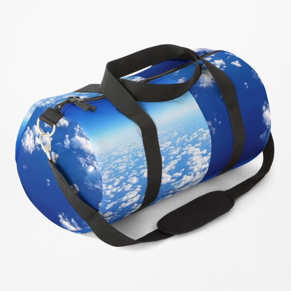 White clouds, blue sky, sunny day Duffle Bag