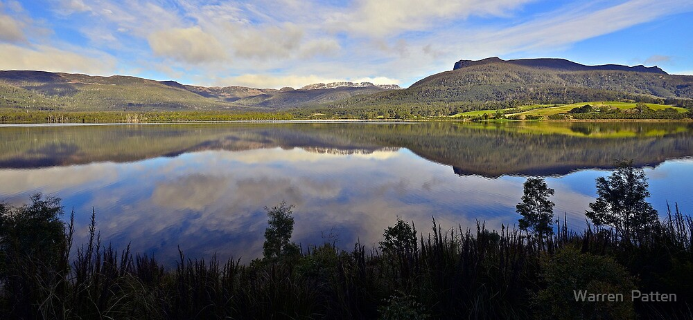 Reflection on Tasmania. by Warren  Patten