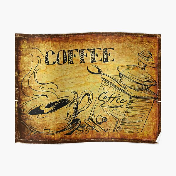 Coffee Picking Grapes Poster