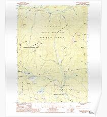 USGS TOPO Map New Hampshire NH Mount Chocorua 329671 1987 24000 Poster