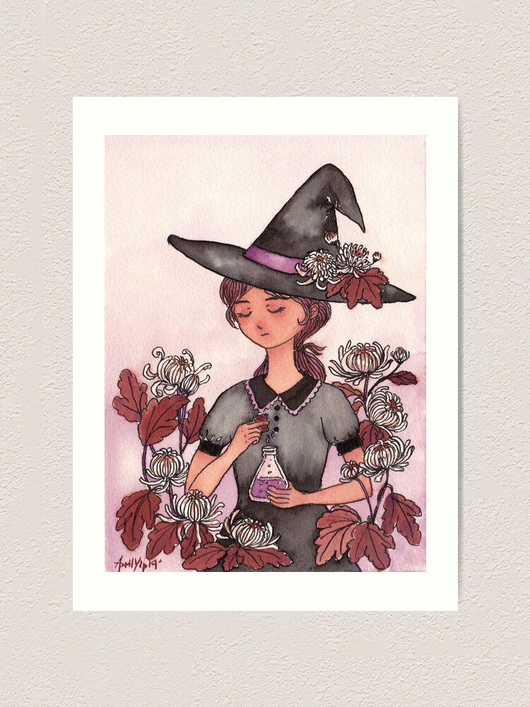 Alternate view of The Girl with Magic Poison Art Print