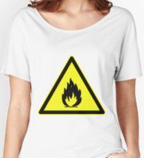 Fire Hazard Symbol Women's Relaxed Fit T-Shirt