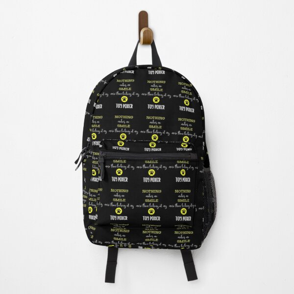 Nothing Makes Me Smile More Than Looking At My Toy Poxer - Toy Poxer Gift Idea Backpack