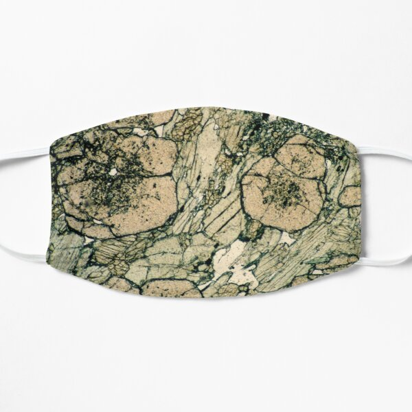 Garnet Crystals in Pyroxene & Quartz Flat Mask