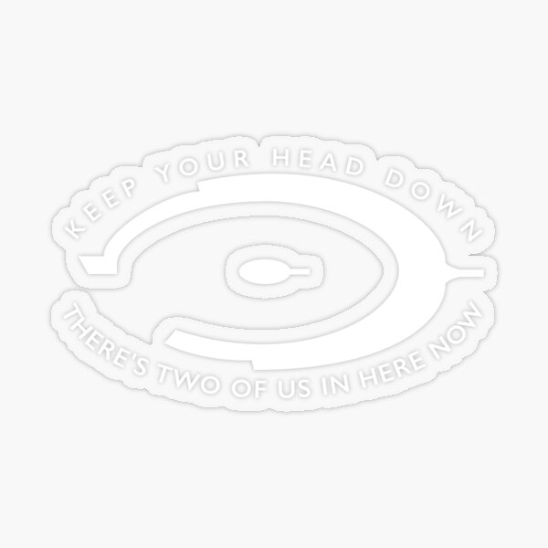 White Halo Combat Evolved Logo and Quote Transparent Sticker