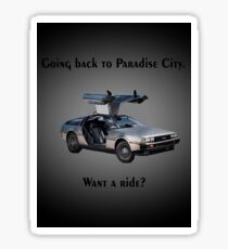 Back to Paradise City Sticker