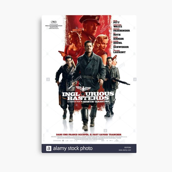 Inglorious Bastards French film poster Canvas Print
