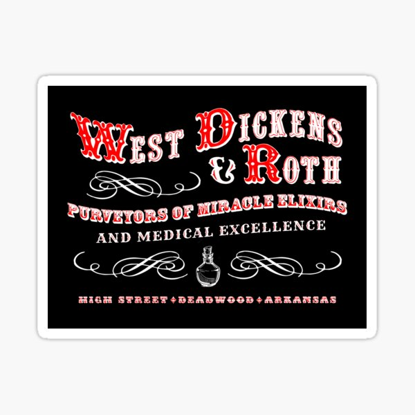 West Dickens & Roth Sticker