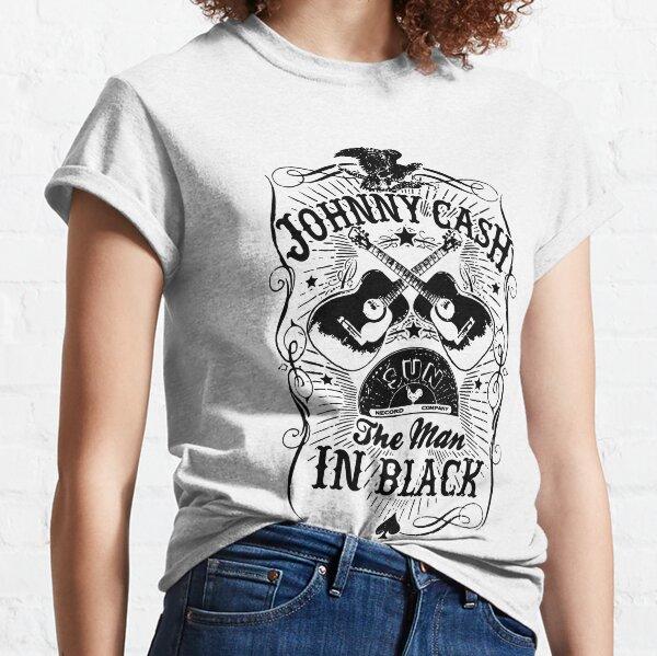 Johnny Cash The Man in Black Vintage. Johnny Cash Mugshot. Music. Graphic mask Classic T-Shirt