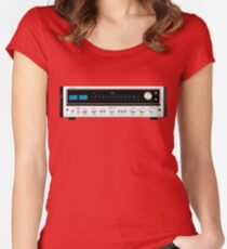 Pioneer SX-737 vintage reciever Women's Fitted Scoop T-Shirt