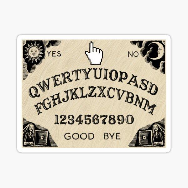 QWERTY Ouija Board Sticker
