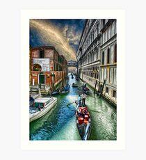 Venice Water Street Art Print