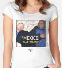 Mexico alls i'm sayn - Saul Guards Women's Fitted Scoop T-Shirt