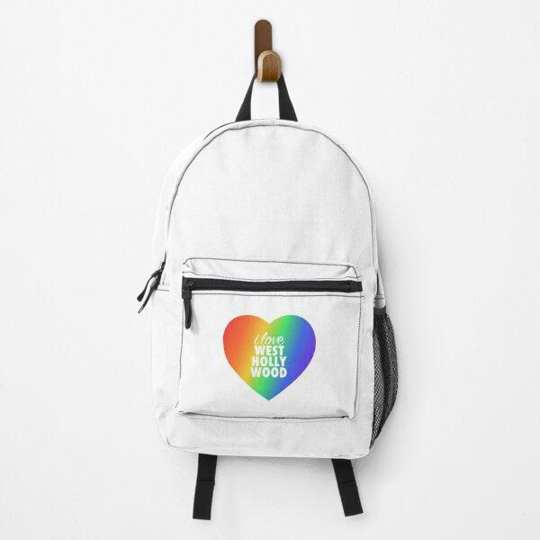 I Love West Hollywood Pride Rainbow Heart Backpack