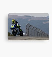 Valentino Rossi at laguna seca 2013 Canvas Print